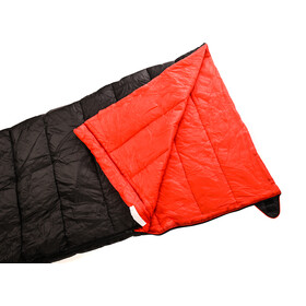 Alvivo Ibex Travel Loft 200 Sleeping Bag 230cm, negro/rojo